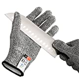 Pictek Cut Resistant Gloves, (1 Pair) Knife Cut Proof Gloves High Performance Level 5 Protection Protective