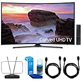 Samsung Curved 55″ 4K Ultra HD Smart LED TV (2017 Model) – UN55MU6500 w/ TV Cut The Cord Bundle Includes, Durable HDTV & FM Antenna, 2x 6ft. High Speed HDMI Cable & Screen Cleaner for LED TVs Reviews