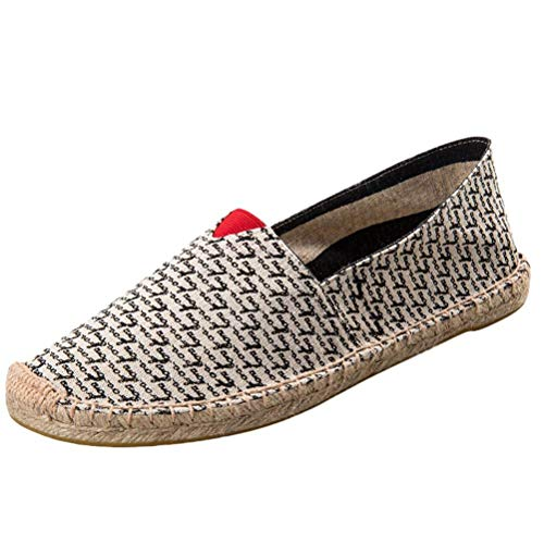 on on on Black 11 UK UK UK UK Espadrille ZHRUI 5 on Slip Style Sneakers 9 Slip Canvas Flats Colore Shoes Unisex Dimensione in Traspirante CCZXq
