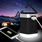 LED Camping Lantern, 13000mAh Power Bank with Phone Charger, 4W IP65 Waterproof Rechargeable Tent Light, 280 Hours of Light from a Single Charge - Portable for Outages, Emergencies, Hurricanes, Hiking