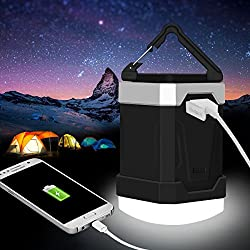 Camping Lantern 5 Modes 13000mAh Portable LED Emergency Lantern Power Bank IP65 Rechargeable Camping Equipment Flashlights for, Hiking,Hurricanes, Storms, Outages.
