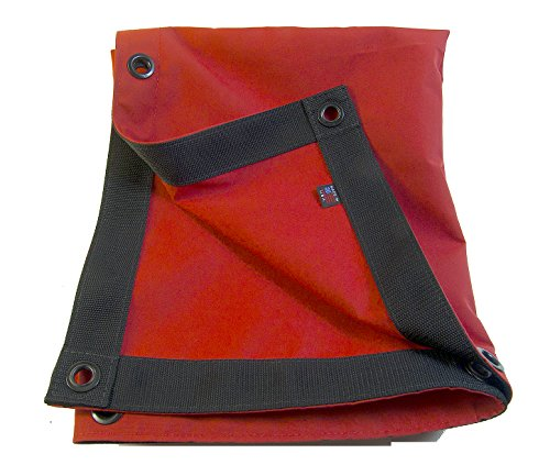 Sunbrella Tarp Jockey Red w/Reinforced Edging & 1/2
