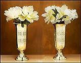 Set of 2 Filigree Altar Vases