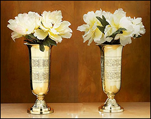 Set of 2 Filigree Altar Vases by AT001