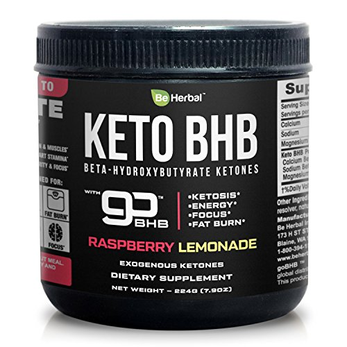 BE HERBAL Premium Keto BHB Supplement - Go BHB Exogenous Ketones - Formulated for Ketosis, Energy, Focus and Fat Burn with patented Beta-Hydroxybutyrates (Calcium, Sodium, Magnesium)