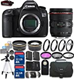 Canon EOS 5DS R Digital SLR with Low-Pass Filter Effect Cancellation with EF 24-70mm f/4.0L IS USM w/ 48GB in SDHC Memory & Accessory Bundle (19 Items) - International Version (No Warranty)