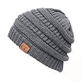 Thick Slouchy Knit Unisex Beanie Cap Hat,One...