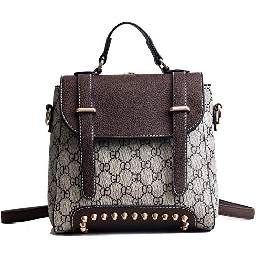 Womens Backpack Backpack Fashion Handbags Multi-purpose Shoulder Bag With Wide Strap Bag Brown
