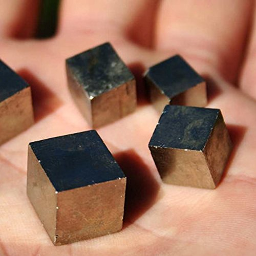 Mini Beads Cube (Lieomo 6Pcs Different sizes Mini Pyrite Cube Natural Fools Gold)