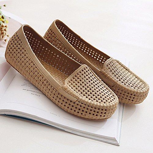 Moda Mujer verano sandalias confortables,38 Silver Brown