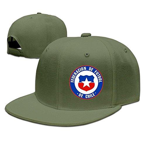MaNeg Chile Football Team Unisex Fashion Cool Adjustable Snapback Baseball Cap Hat One Size - Chanel Miami Store