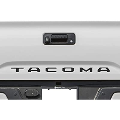 Black Tailgate Insert Letters Decals Inlay Indent Vinyl Stickers for Toyota Tacoma SR5 SR + TRD PRO Base Limited Special Edition Off-Road Sport Crew Extended CUB V6 2016 2020 2020 2020 2020 Brand New: Arts, Crafts & Sewing