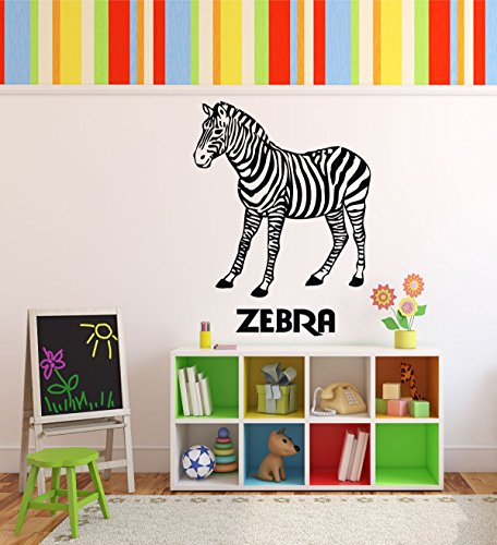 Zoo Animal Wall Decals - Zebras - Zoo Animal Party Supplies, Safari Decor, Zebra Party Supplies, Zebra Decorations For the Home, Office, or Classroom