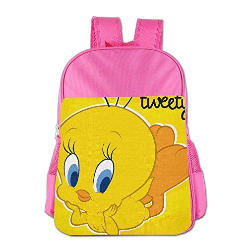 Kids Cute Tweety Bird School Backpack Cool Children School Bags Pink