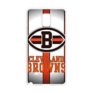 Hoomin Simple Cleveland Browns Samsung Galaxy Note4 Cell Phone Cases Cover Popular Gifts(Laster Technology)