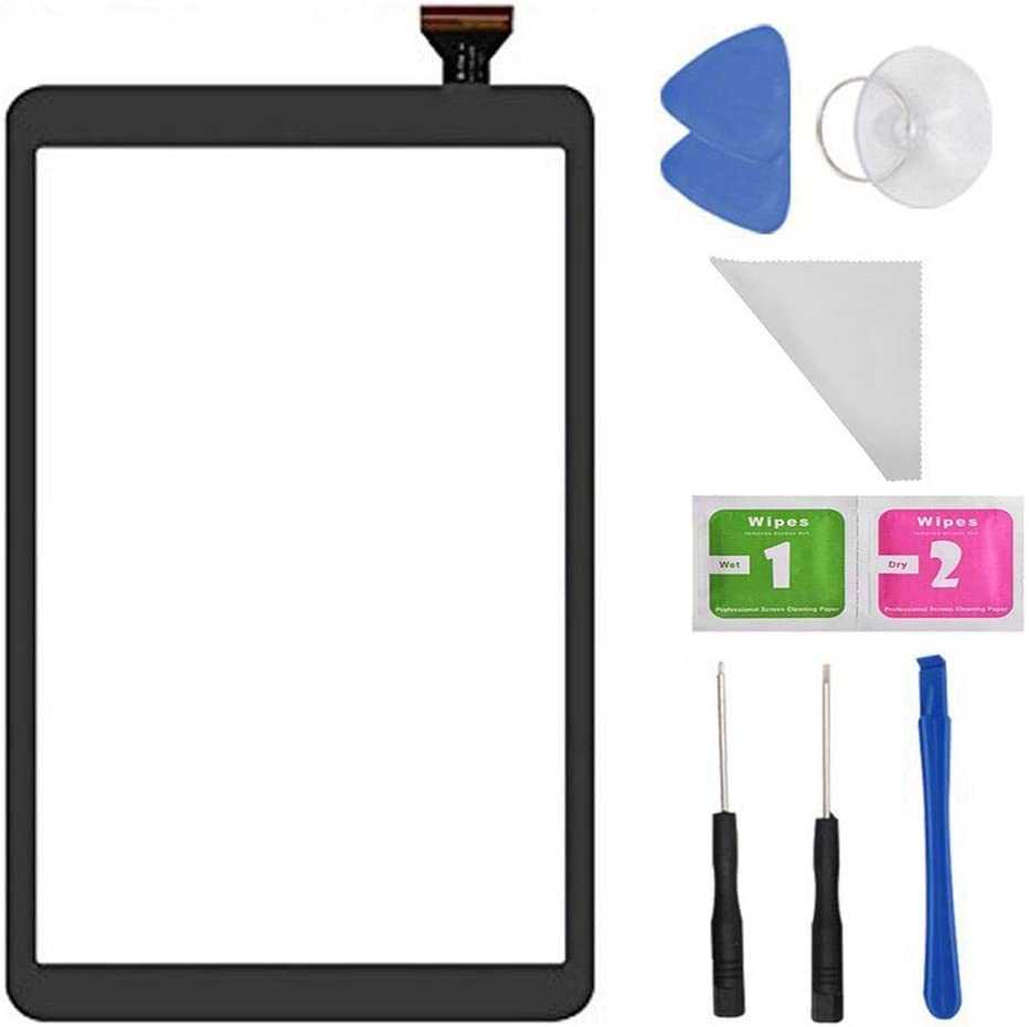 Touch Screen Digitizer Replacement for Samsung Galaxy Tab A 10.1 T580 T585 SM-T580 SM-T585 with Tools (Not Include LCD) Black