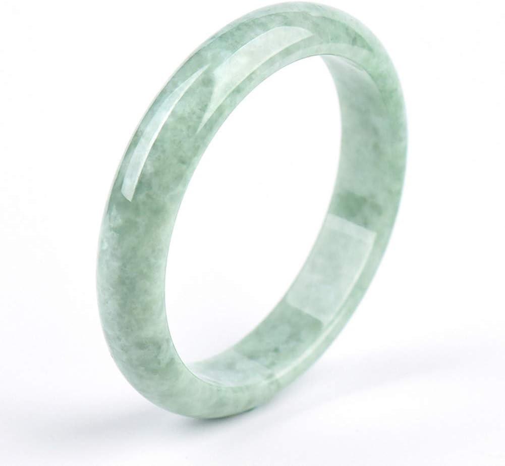 Inner Diameter 62mm Well Being~Natural Light Green NEPHRITE JADE Bangle Bracelet  Special Gift I1230