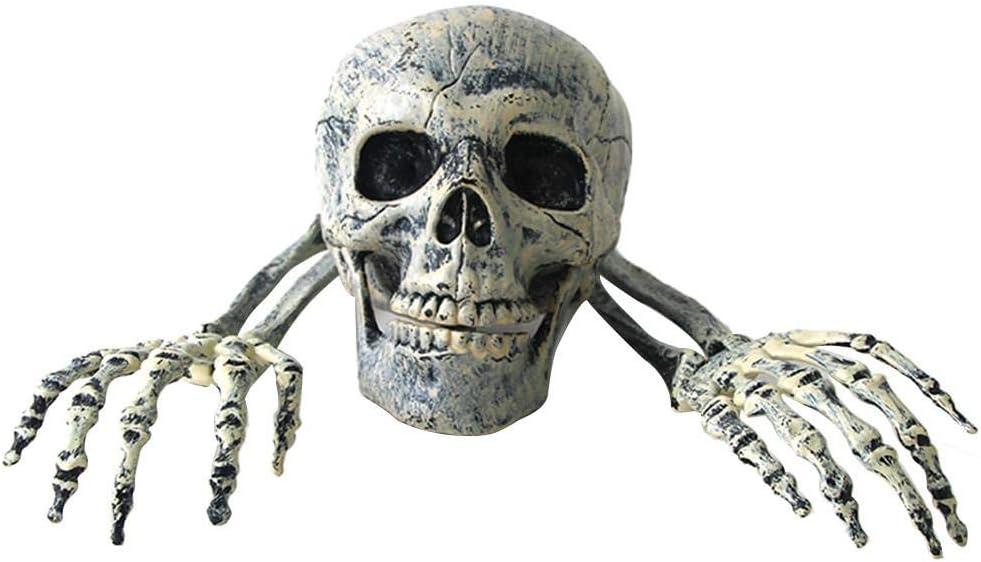 Szseven 2019 - Juego de Roles de Halloween - Puntos de Horror - Decoración para Fiestas - Mantel de plástico Realista - Cranio y Mano - Decoración de Fiesta