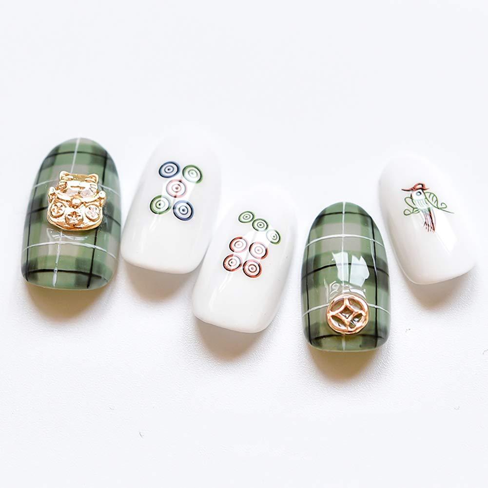 Amazon.com: 1 hoja autoadhesiva Mahjong uñas arte pegatinas ...