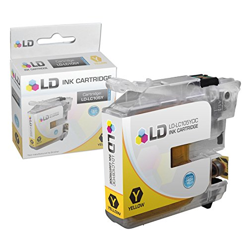 LD © Brother Compatible LC105 Set of 6 Ink Cartridges: 2 each of LC105C Cyan / LC105M Magenta / LC105Y Yellow for use in MFC-J4310DW, MFC-J4410DW, MFC-J4510DW, MFC-4610DW & MFC-J4710DW Printers Photo #4