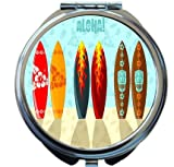 Rikki Knight Aloha Surfboards Design Round Compact Mirror