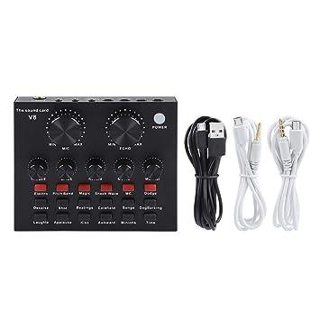Tarjeta de Sonido de Audio - Mezclador de Audio Externa USB ...