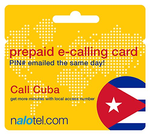 Prepaid Phone Card - Cheap International E-Calling Card $20 for Cuba with same day emailed PIN, no postage necessary by Nalotel