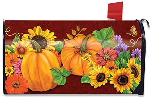 Briarwood Lane Fall Glory Floral Magnetic Mailbox Cover Sunflowers Pumpkins