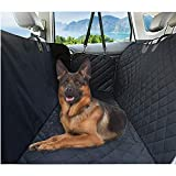 Eocean Dog Seat Cover with Zipper, Dog Car Hammock Style/Nonslip Pet Seat Protectors for Car/Waterproof Pet Car Seat Cover for Cats, Dogs, Fits All Vehicles, Trucks & SUV Included