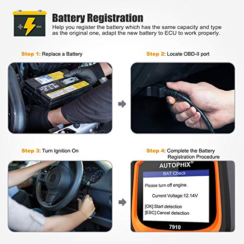 AUTOPHIX Diagnostic Scanner Tool for BMW Mimi, 7910 Multi-System OBD2  Scanner Auto Fault Code Reader with BMW Battery Registration