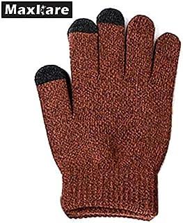HATCHMATIC Antidrapant Hiver ÉPaissir en Peluche Gants Tricots Touch Gants d'cran Unisexe Chaud Mitaines en Cachemire Gants de Haute Qualit: Brun