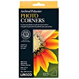 """Lineco Self-Adhesive Polyester Mounting Corners - .5"""" Clear (240/Pkg.)"""