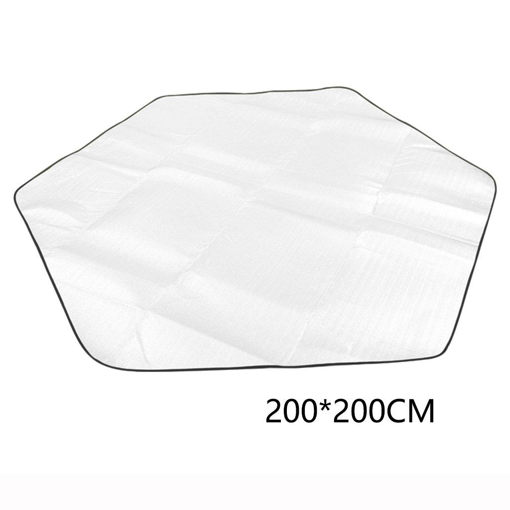 ERRU-Feuchtraum-Pad Outdoor Faltbarer doppelseitiger Aluminiumfilm Feuchtigkeitsfeste Campingmatten (200  200CM, Silber) Waterproof Feuchtigkeit