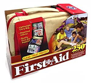 Be Smart Get Prepared First Aid Kit, 250 Pieces for Home, Outdoors, Travel. Easy to store and organized for quick reference