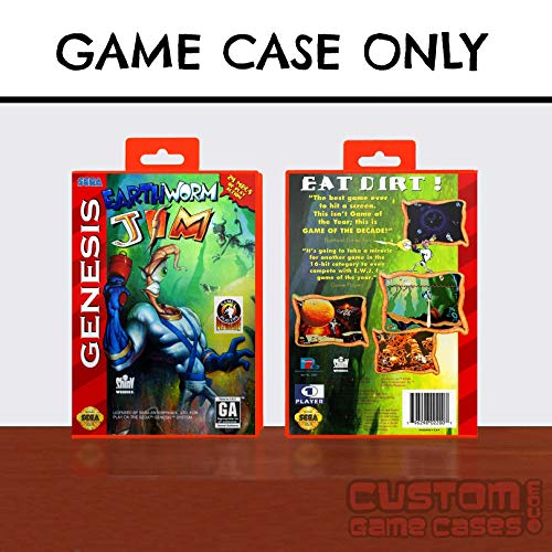 (Sega Genesis Earthworm Jim - Case)