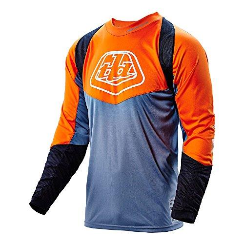 Troy Lee Designs Mens Offroad Enduro Adventure Radius Jersey (XX-Large, Orange/Gray) ()