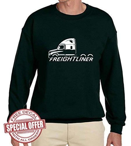 Freightliner Cascadia Semi Truck Classic Outline Design Sweatshirt XL (Freightliner Apparel)