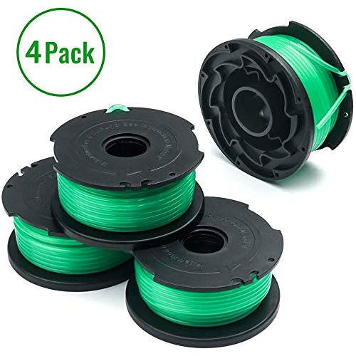 X Home Trimmer Replacement Spools Compatible with Black and Decker SF-080 GH3000 LST540 Weed Eater, 20ft 0.080 inch GH3000R LST540B Edger Refills, Auto-Feed Single Line Cord Parts(4 pcs)