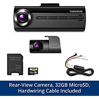 Sale Off THINKWARE FA200 Dash Cam Bundle with Front & Rear Cam Hardwiring Cable 32GB MicroSD Card Included Built-in WiFi Time Lapse