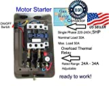 New Magnetic Motor Starter Control for electric motor compressor 5hp 1ph 230V 34 amp