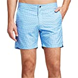 Ibiza Ocean Club Mens Swim Trunks Textured Black (38, Textured Blue)