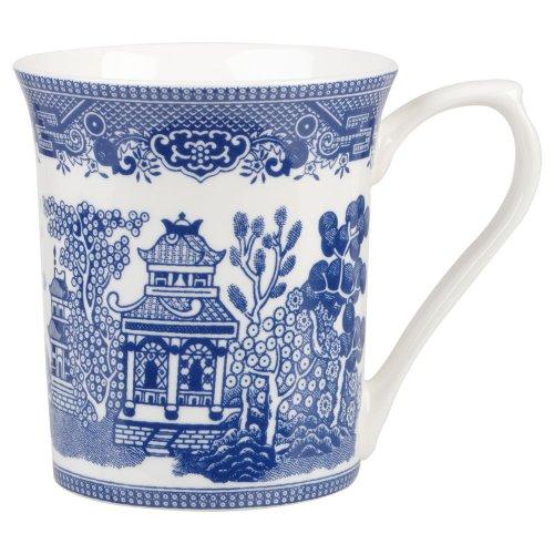 e Willow Fine Bone China Gift Coffee Tea Mug (English Blue Willow)
