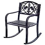 Honesty Seat Deck Outdoor Backyard Glider Rocker 28''x24'' Patio Metal Rocking Chair Porch