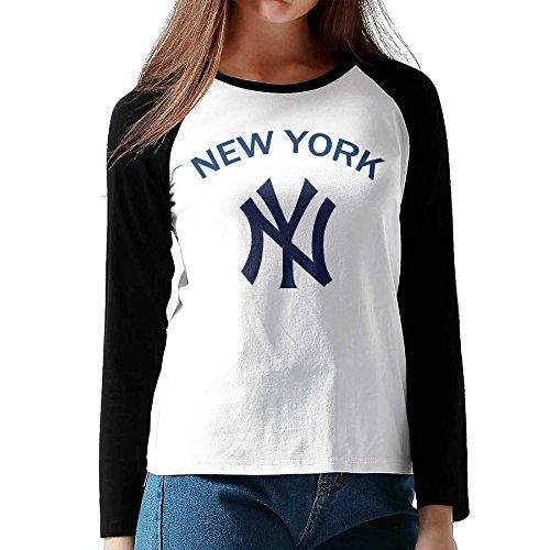 XJBD Women's New York Team Long Baseball Tshirt Size L