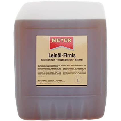 Linóleo, aceite de linaza, barniz para madera, 5 litros