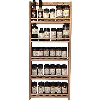 Amazon Com Allspice Wooden Spice Rack Includes 60 4oz