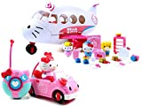 Hello Kitty Jet Plane Playset and Hello Kitty Convertible Remote Control/RC Car, Pink