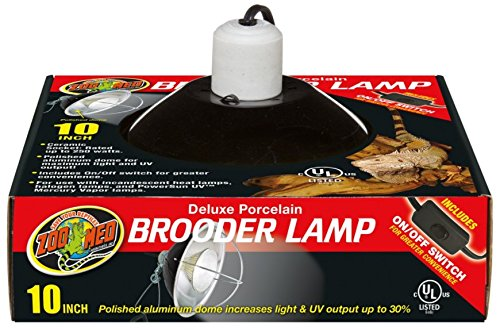 Zoo Med Deluxe Porcelain Brooder Lamp, 10-Inch by Zoo Med