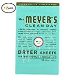 Mrs. Mеyеr's Dryеr Shееts - Basil - Casе оf 12-80 Shееts - Bulk Buy