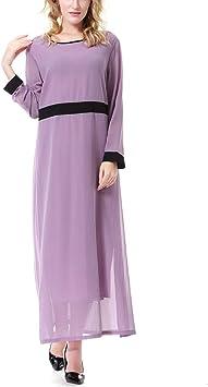FENICAL damska letnia sukienka modna elegancka szyfon sukienka czysty kolor długa sukienka impreza fauna sukienka rozmiar XXL (lawenda): Küche & Haushalt